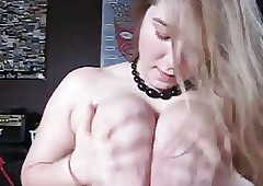 Tow-haired Teen Blowjob & Tit..
