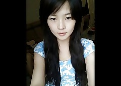 Cute chinese teen sparking out..