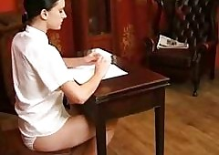 Hurtful schoolgirl gets the brush..