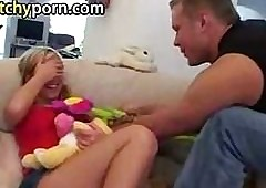 Cute tow-headed teen unfocused fucked..