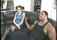 Young redhead schoolgirl takes..
