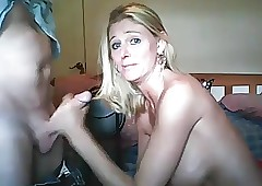 Hot get hitched blowjob with..