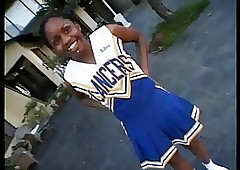 Dark-skinned cheerleader Vow