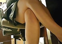 Upskirt exposed to Coworker Not..