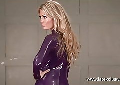 Purple latex tow-haired..