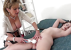 Laddie Sonia teases the brush..
